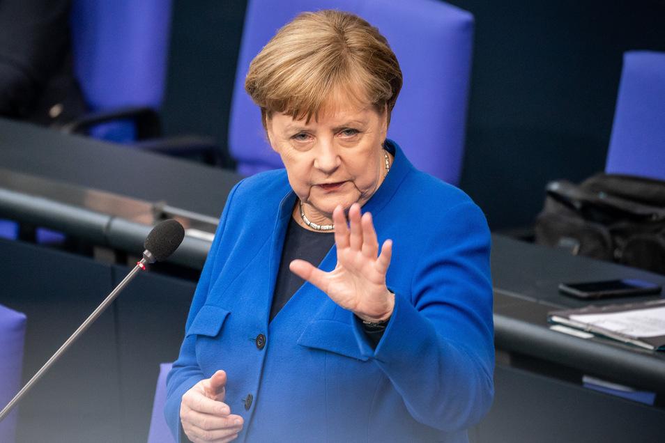 Ruhig, souverän, schlagfertig: Angela Merkel am Mittwoch im Bundestag.