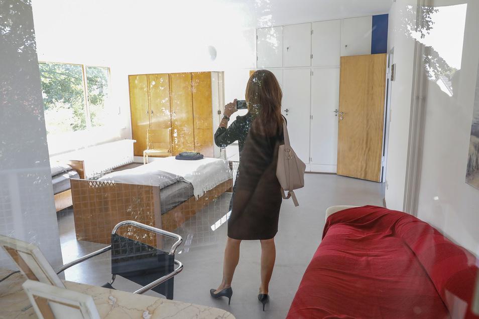 Ein Blick ins Schlafzimmer.