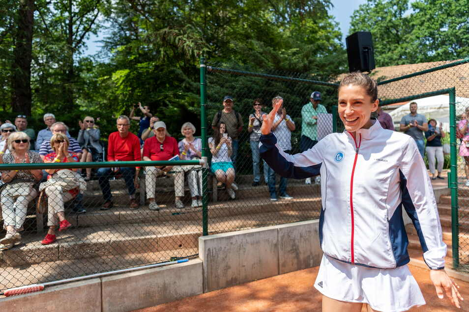 2019 war Andrea Petkovic im Waldpark Publikumsmagnet und -liebling.