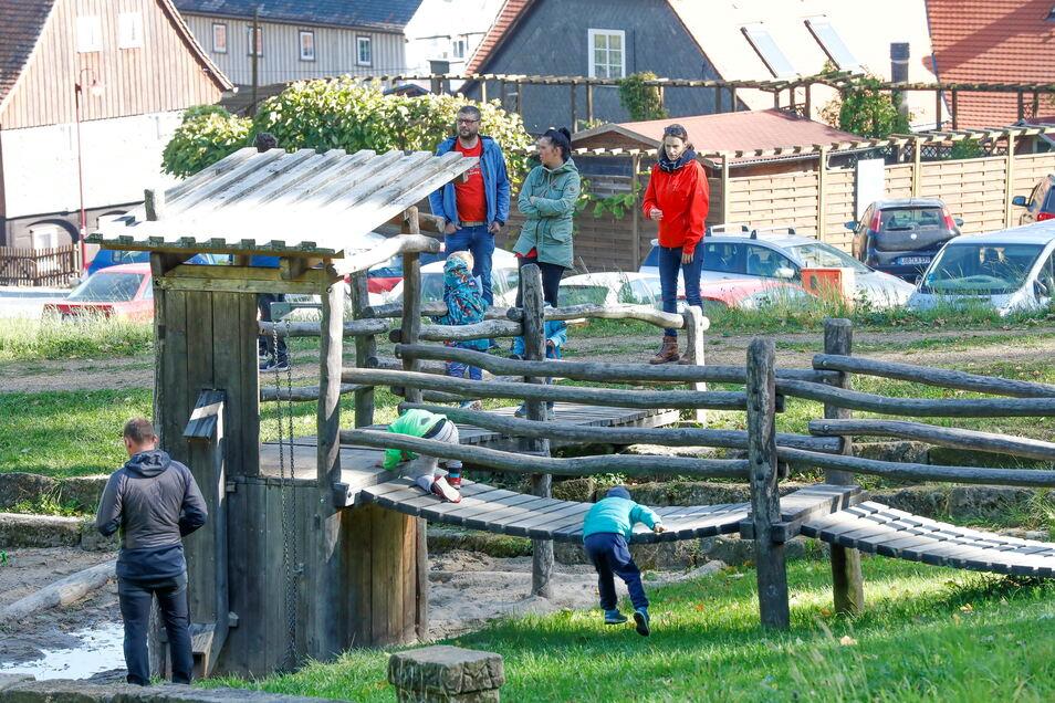 Die Kinder konnten sich auf dem Spielplatz austoben.
