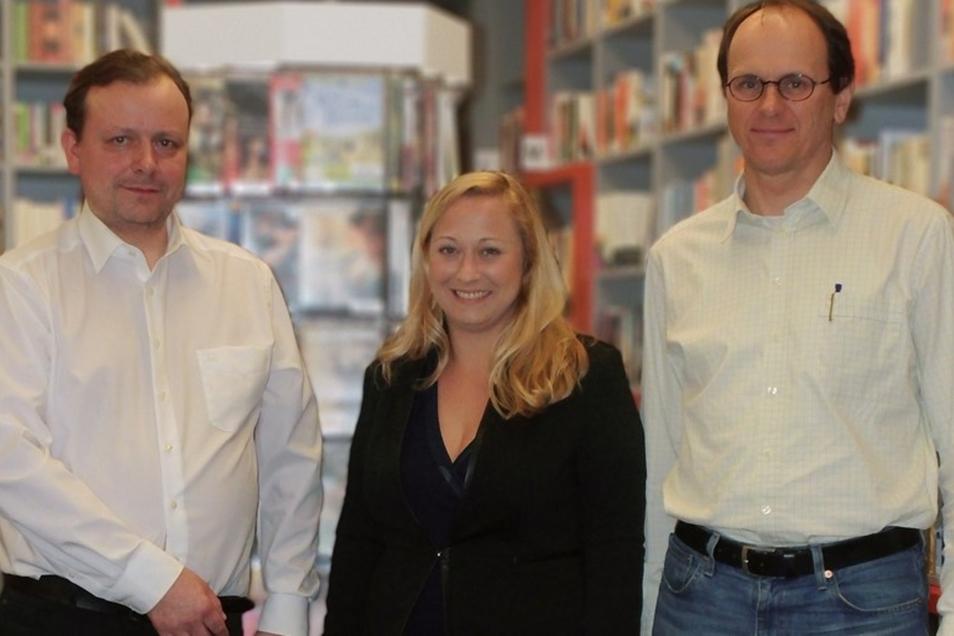 Sie kandidieren für die Kultur- und Heimatfreunde: Dr. Roland Schedler, Tina Nitsche, Jens Gülde.