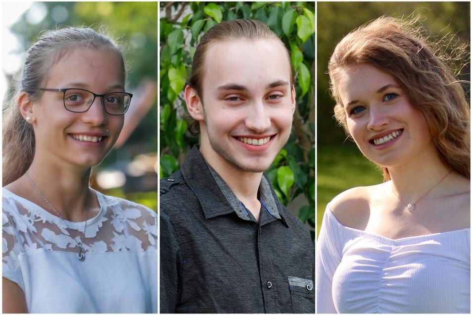 Emily Schwerdtner, Niklas Wächter und Isabel Dyk sind drei von 16 Absolventen, die dieses Jahr die Traum-Note 1,0 erreicht haben. Und das trotz Corona-Krise und Umstellung auf Homeschooling.
