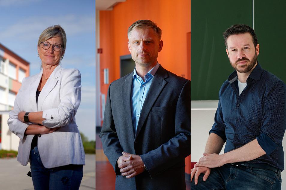 Drei Schulleiter - eine Herausforderung: Unterricht in Corona-Zeiten. Gabriele Keltsch, René Jatzwauk (Mitte) und Marco Dehlan berichten, wie das an ihren Schulen funktionieren soll.