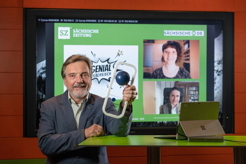 Stephan Schön, Jana Mundus und Ines Mallek-Klein gewinnen für die Sächsische Zeitung den wichtigsten Preis für Technikjournalismus - PUNKT.