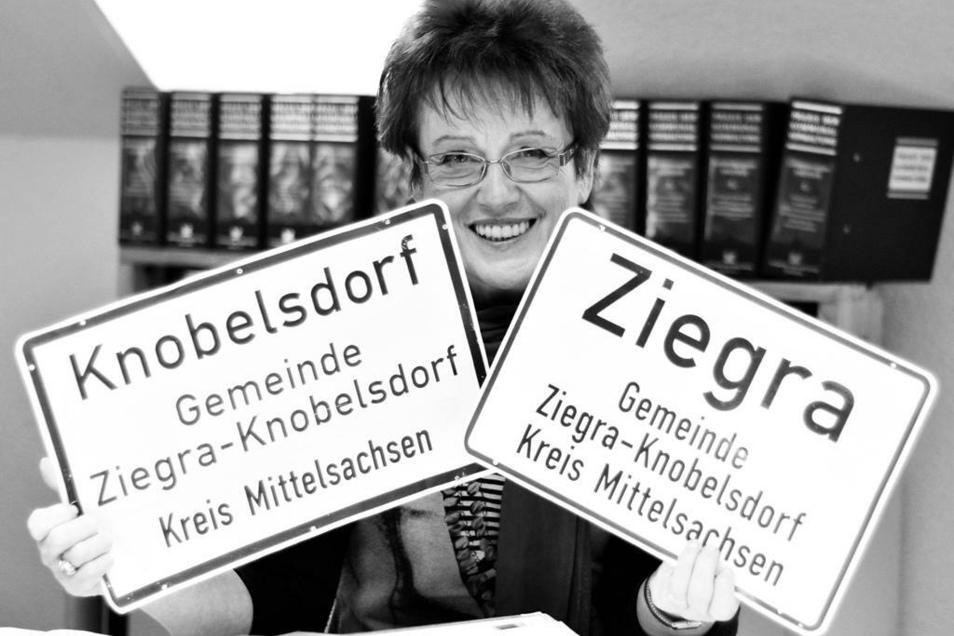 Helga Busch hatte seit 1995 die Geschicke von Ziegra-Knobelsdorf gelenkt. Jetzt ist sie mit 70 Jahren gestorben.
