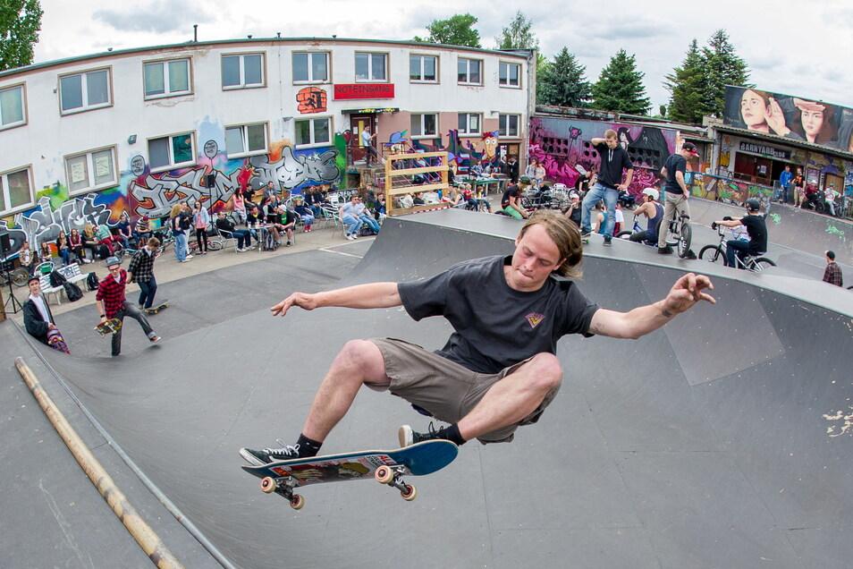 Die Skateranlage am Weißen Haus ist ein beliebter Treffpunkt für Jugendliche.