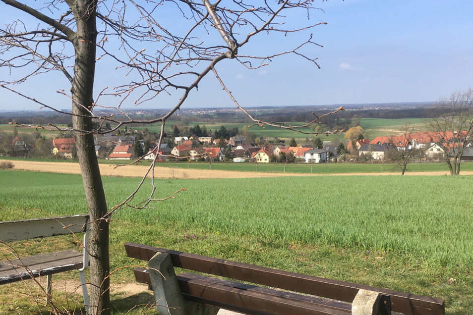 Aussicht von der alten böhmischen Salzstraße.