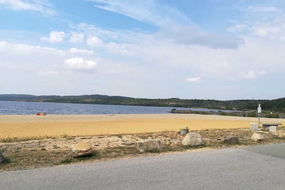 Der Fundort des Toten: Der Nordstrand am Berzdorfer See