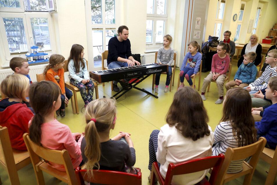 """Auch die Awo-Kita """"Kinderland"""" in Großschönau hat 2019 am Musikhelden-Projekt teilgenommen."""