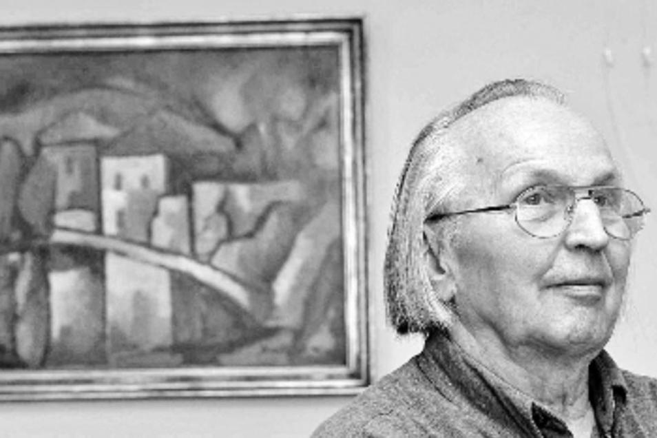 Der sorbische Maler Jan Buck (1922- 2019).