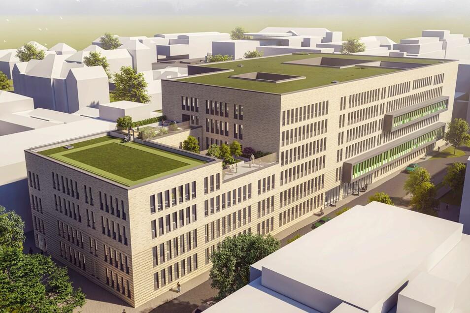 Am Dresdner Universitätsklinikum investiert Sachsen knapp 100 Millionen Euro in einen Neubau für mehrere medizinische Zentren.