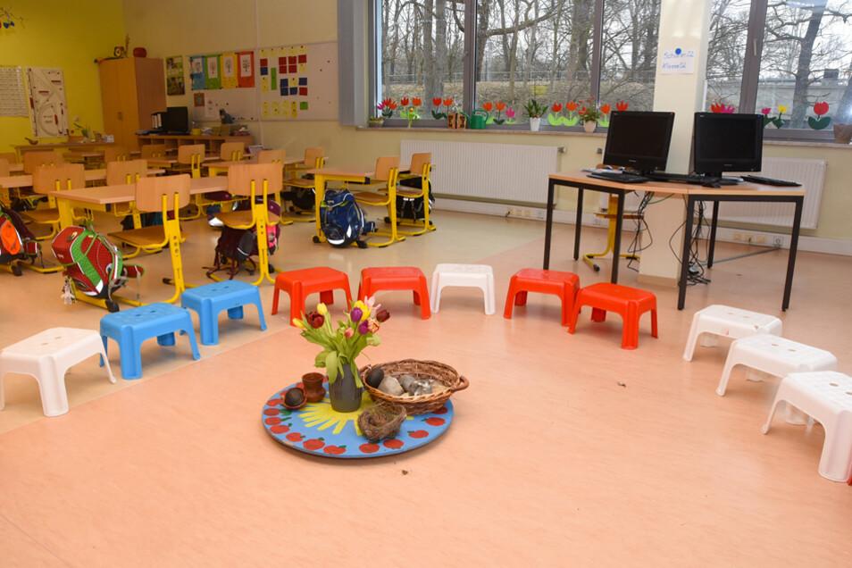 In kindgerecht eingerichteten Räumen macht das Lernen Spaß.