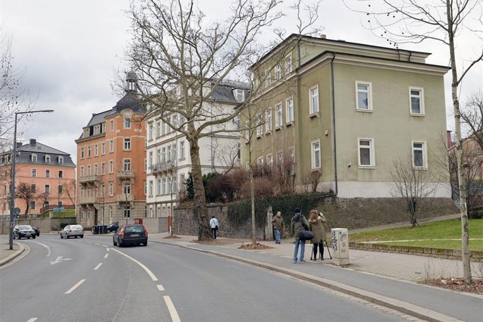 An der Tharandter Straße, in unmittelbarer Nähe zur Löbtau-Passage, steht das neue Asylbewerberheim.