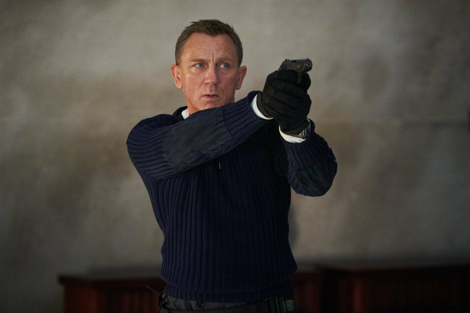 """Daniel Craig als James Bond in der Szene eines Trailers zum James-Bond-Film """"Keine Zeit zu sterben""""."""