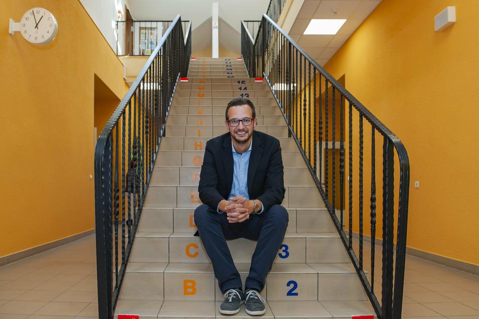 Thomas Jacobi ist seit August Leiter der Großenhainer Förderschule auf dem Remonteplatz.