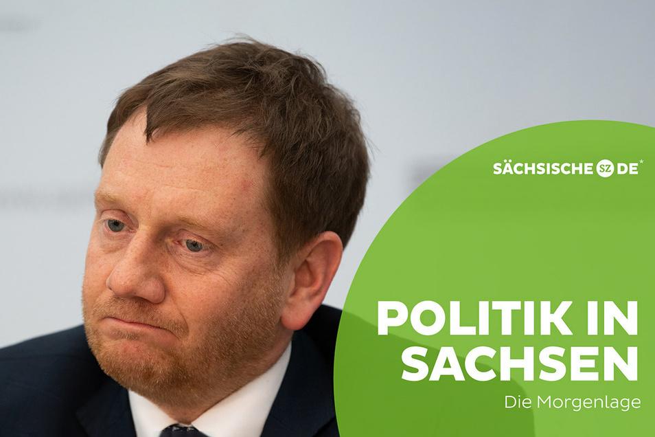 Bei einem geplanten Behördenumzug gibt es massiven Widerstand gegen Ministerpräsident Michael Kretschmer.