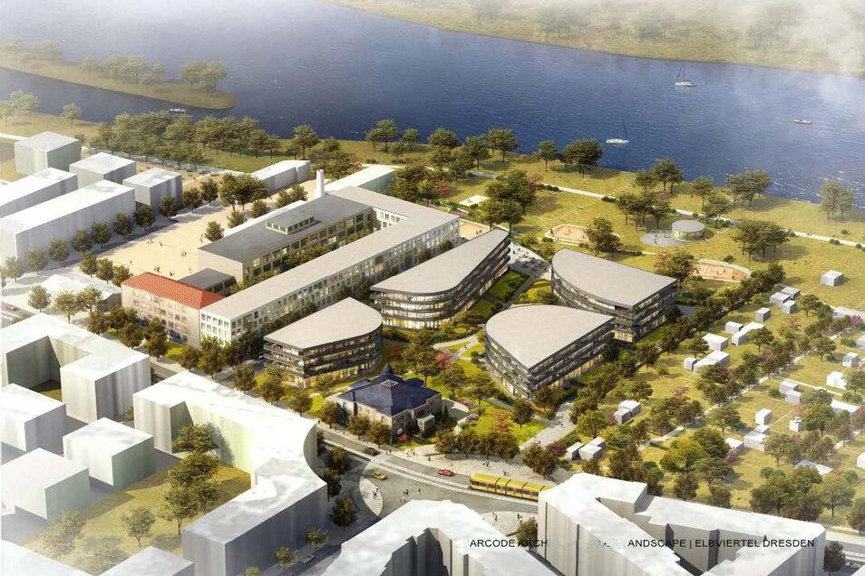 So sieht das Ergebnis des städtebaulichen Wettbewerbs für Marina Garden aus. Der neue Investor wird sich offenbar an diesem Entwurf orientieren.