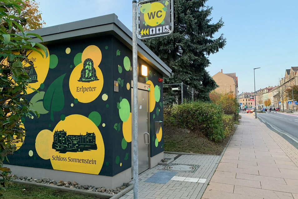 Öffentliche Toilette in Copitz: Das Haus wird oft nicht als WC wahrgenommen.