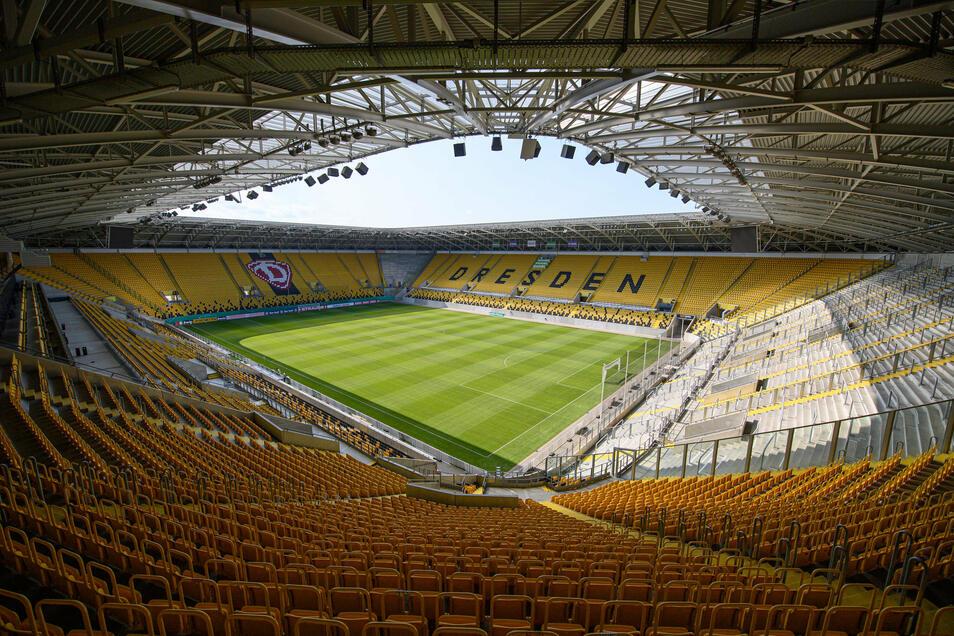 Maximal 999 Zuschauer dürfen am Samstag ins Rudolf-Harbig-Stadion.