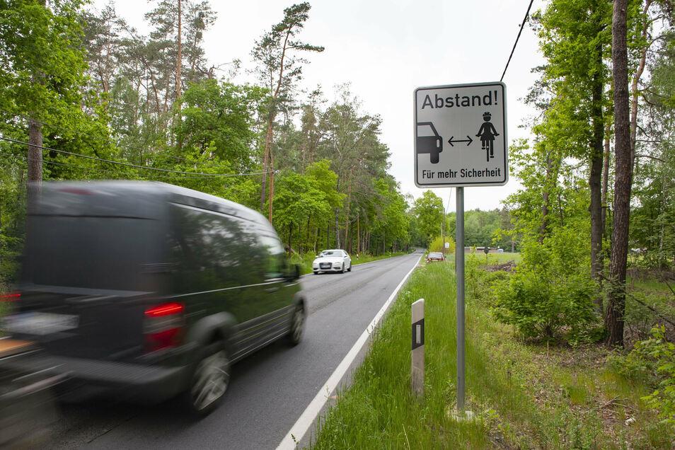 Auf der S 81 sind die Schilder inzwischen Normalität. Die Wildenhainer würden sie auch gern an der B 98 sehen.