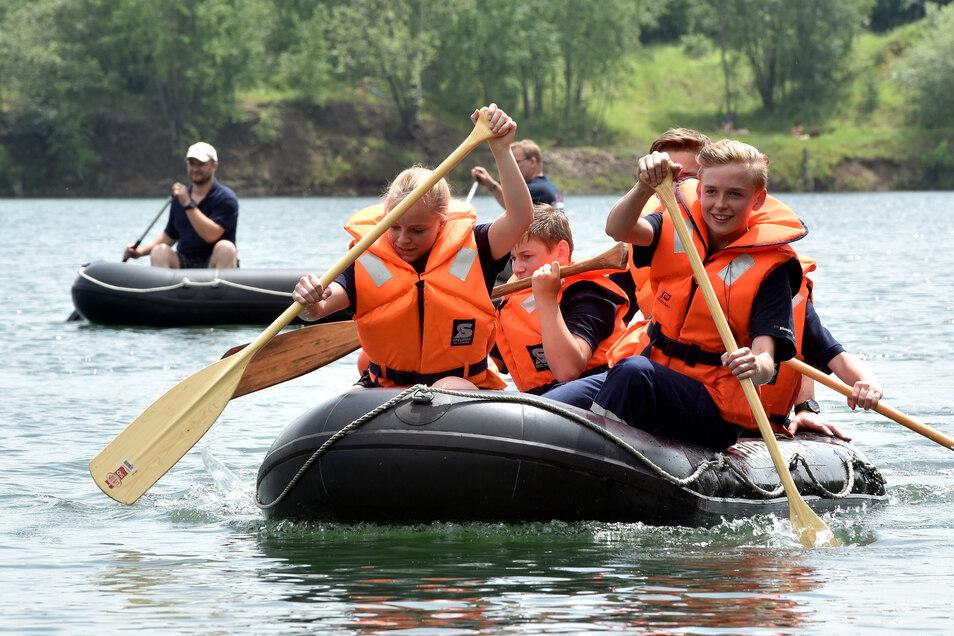 Insgesamt 10 Mannschaften aus dem Landkreis waren neben den Gastgebern (Foto) auf dem Wasser unterwegs.