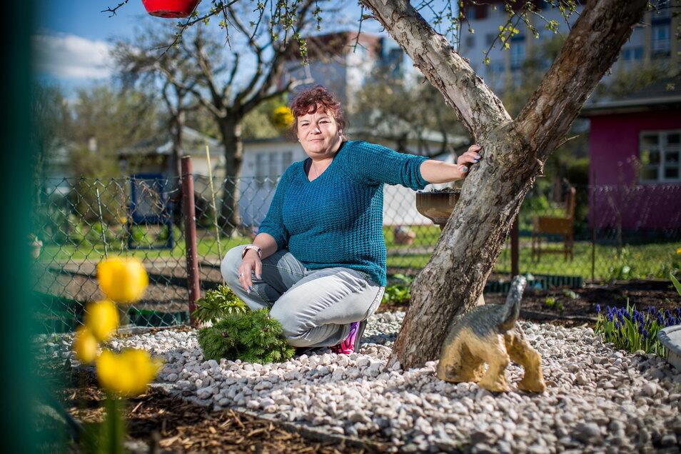 Im Kampf gegen unerwünschte Blumen muss sich Heike Lindner etwas anderes einfallen lassen.