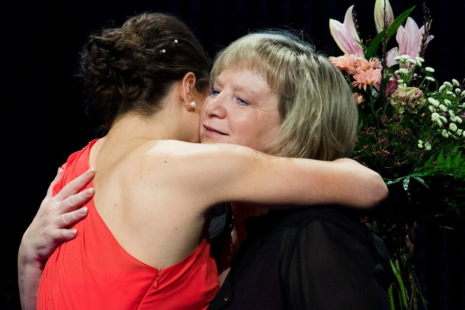 Im Januar 2017 wurden Sophie Scheder und Gabriele Frehse als sächsische Sportlerin und Trainerin des Jahres 2016 geehrt. Auch vier Jahre später ist das Verhältnis der beiden herzlich.