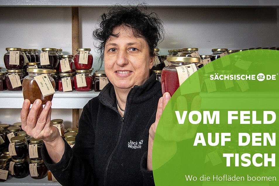 Cornelia Prasch aus Staucha stellt seit fast zehn Jahren Fruchtaufstriche her und vermarktet diese auf verschiedenen Wegen.