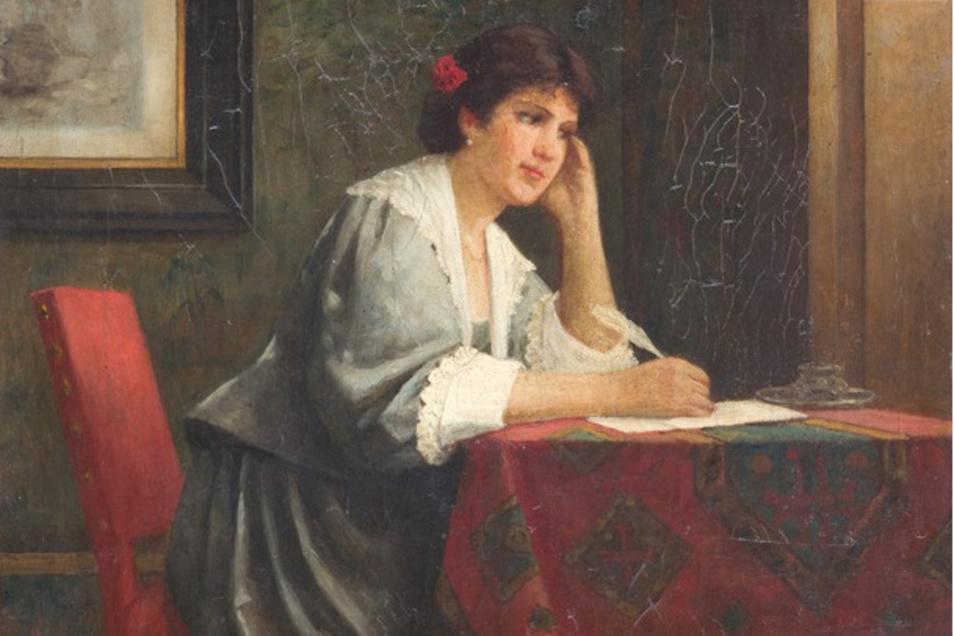Was waren das noch für Zeiten, als man und frau Muße brauchte und hatte, einen Brief zu schreiben wie hier auf dem Gemälde von Ernst Anders. Andererseits: Es war nicht alles schön.