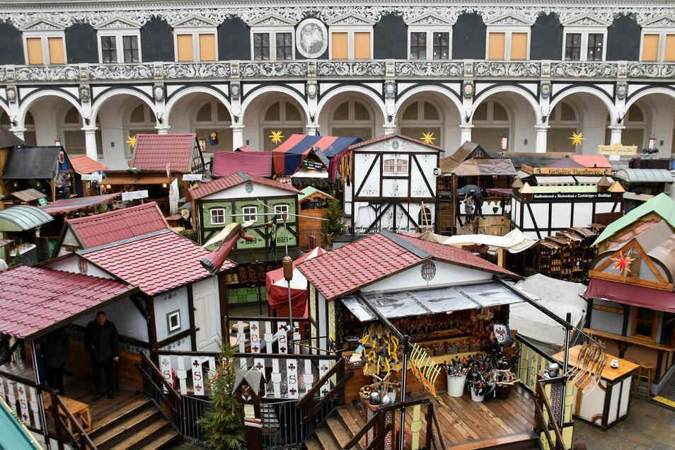 Einen Weihnachtsmarkt wird es im Dresdner Stallhof in diesem Jahr nicht geben