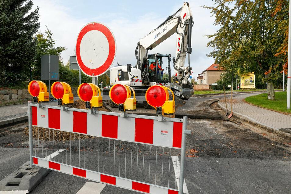 Was lange währt, wird gut: Ab Freitag soll der Verkehr in Olbersdorf wieder rollen.