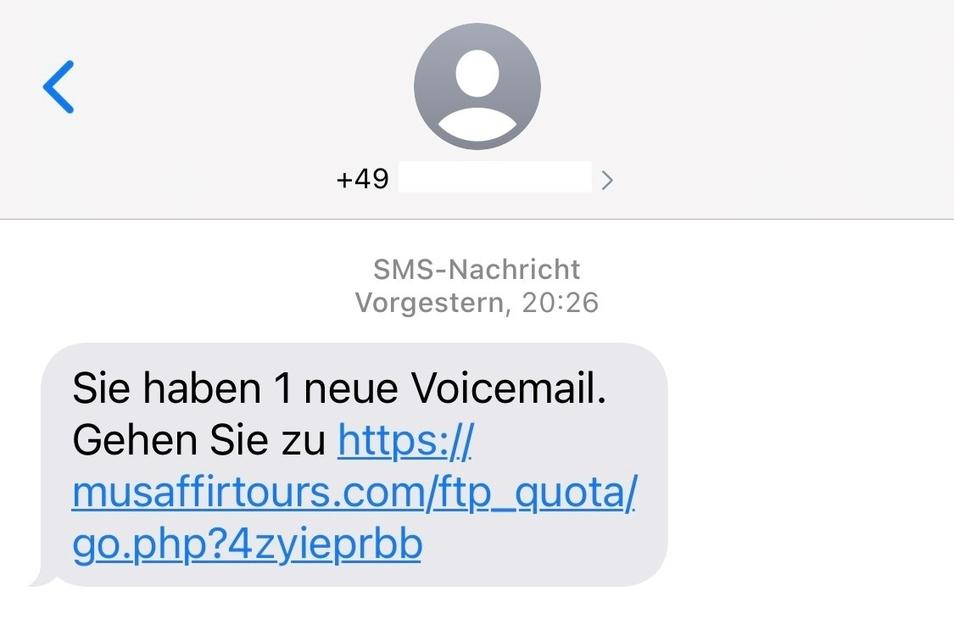 Eine solche SMS wird in den vergangenen Tagen rumgeschickt. Auf den Link sollte man nicht klicken.