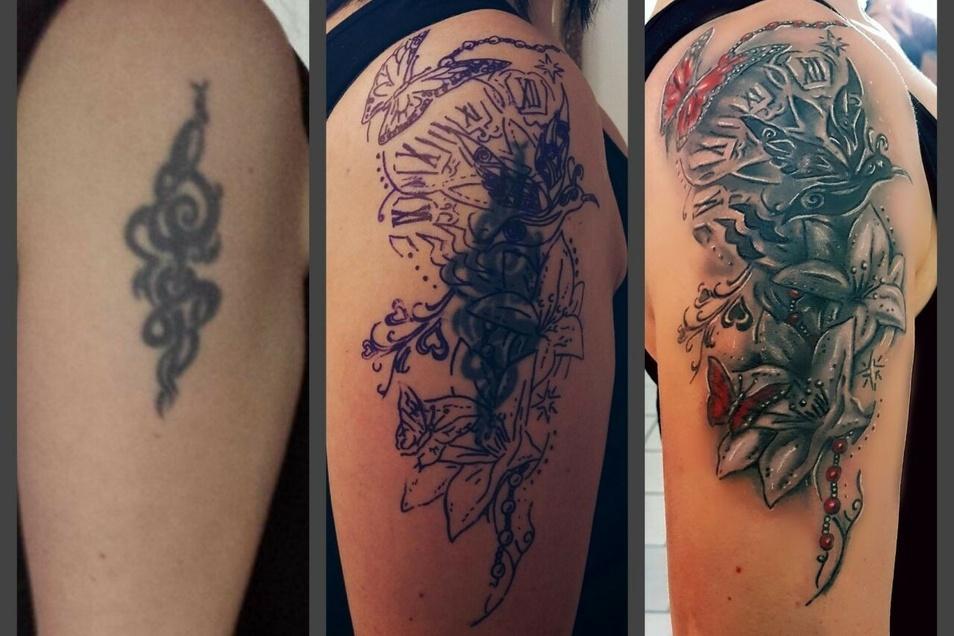 Cover-Ups, auf deutsch Tattoo-Vertuschung, machen etwa 30 Prozent aller Tätowierungen in René Paslers Studio aus.