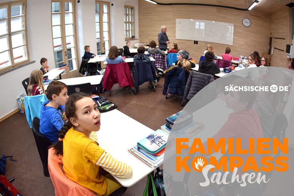 Ein Bild aus den ersten Tagen im neuen Schulhaus: Die Zinzendorfschulen in Herrnhut setzen als freie Schule inhaltlich und auch architektonisch Zeichen.