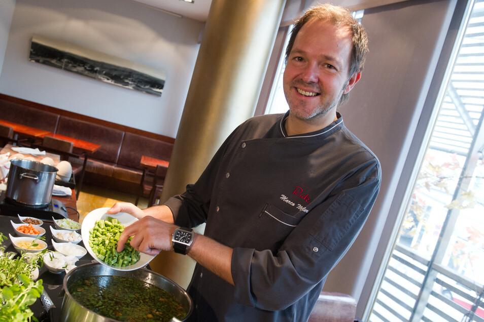 """Berlin hat mit dem """"Rutz"""" unter der Leitung von Küchenchef Marco Müller erstmals ein Drei-Sterne-Restaurant bekommen."""