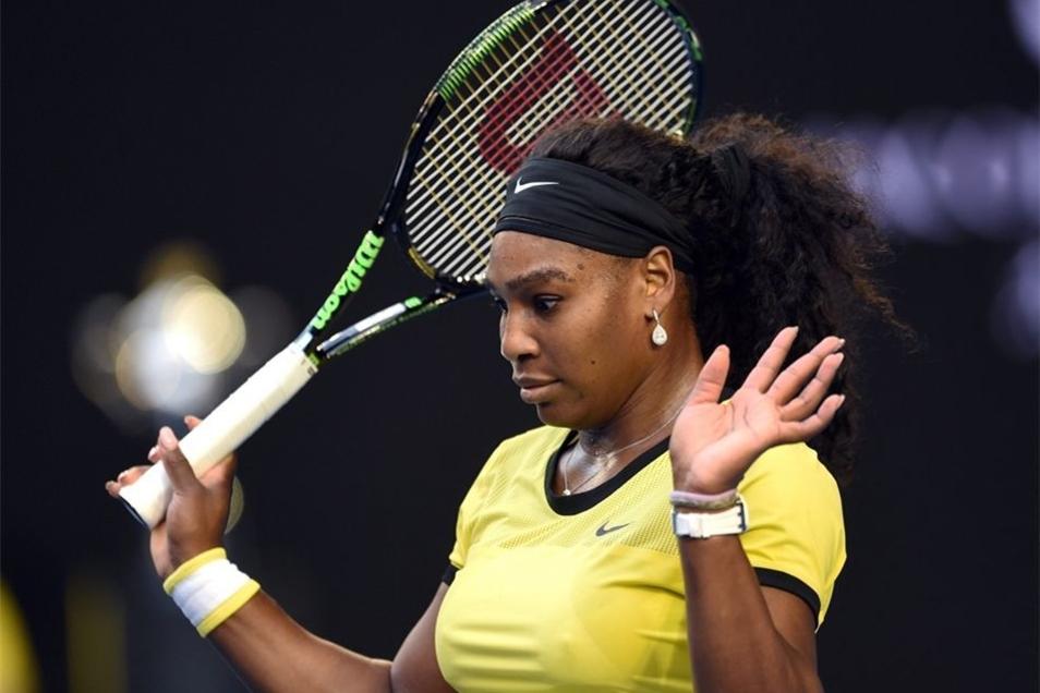 Kerber hatte Serena Williams früh die Laune verdorben.