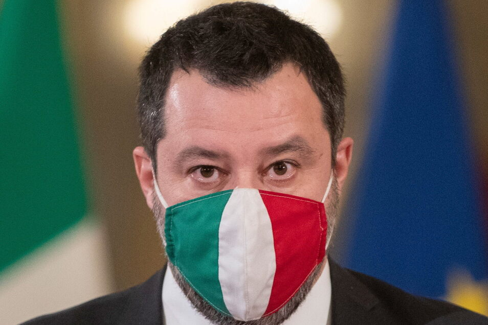 Matteo Salvini, Vorsitzender der rechten Partei Lega