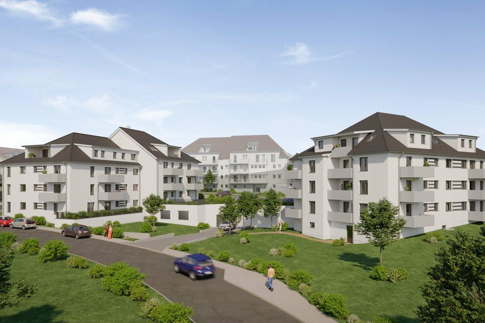 An der Gustav-Klimpel-Straße entstehen zwei neue Mehrfamilienhäuser.