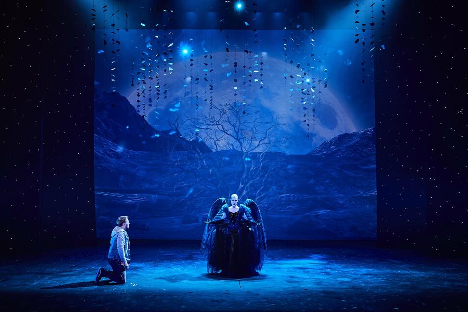 """Szene aus der fantasievollen neuen """"Zauberflöten""""-Produktion der Semperoper. Die soll an diesem Sonntag Premiere haben"""