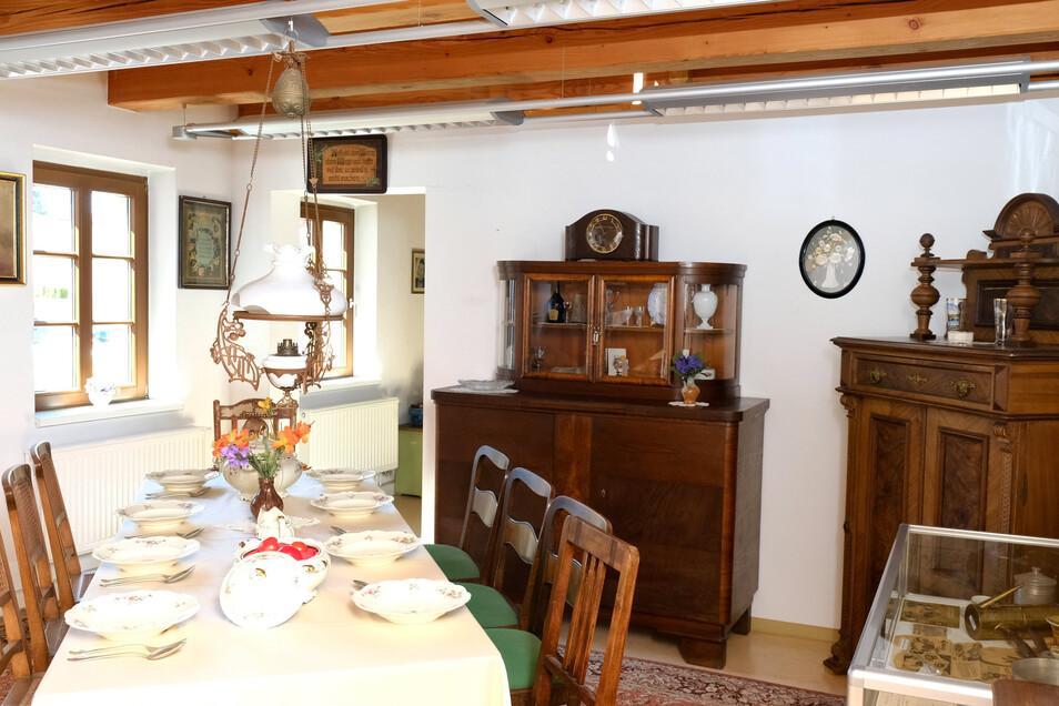 Auch die originalgetreu gestaltete Wohnstube der Familie Girotti kann wohl frühestens am 28. Mai besichtigt werden.