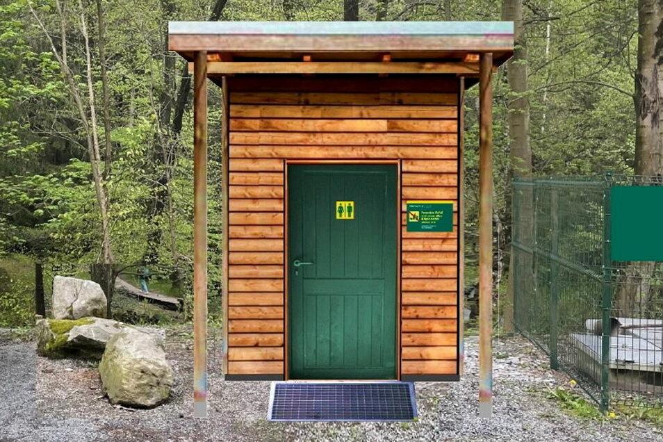 Außen Lärchenholz, innen eine Trockentoilette: So sollen die neuen Waldtoiletten in der Sächsischen Schweiz aussehen.