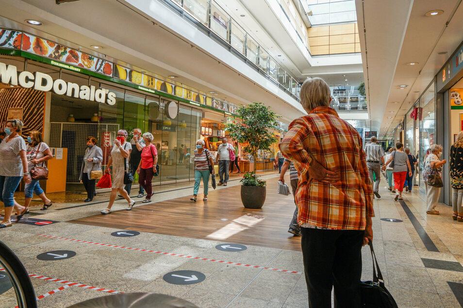Nach der wochenlangen Corona-bedingten Schließung haben sich die Besucherzahlen im Bautzener Kornmarkt-Center seit Mai positiv entwickelt.