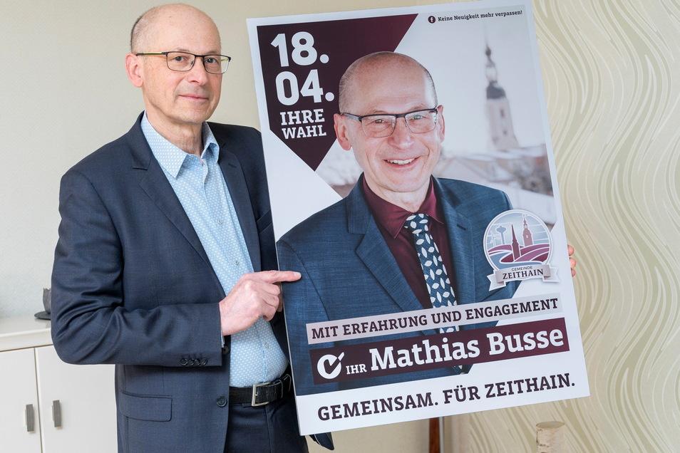 Die Wahlplakate sind fertig und sollen in nächster Zeit aufgehängt werden. Das Zeithainer Logo (rechts auf dem Plakat) hat Mathias Busse selbst entworfen.