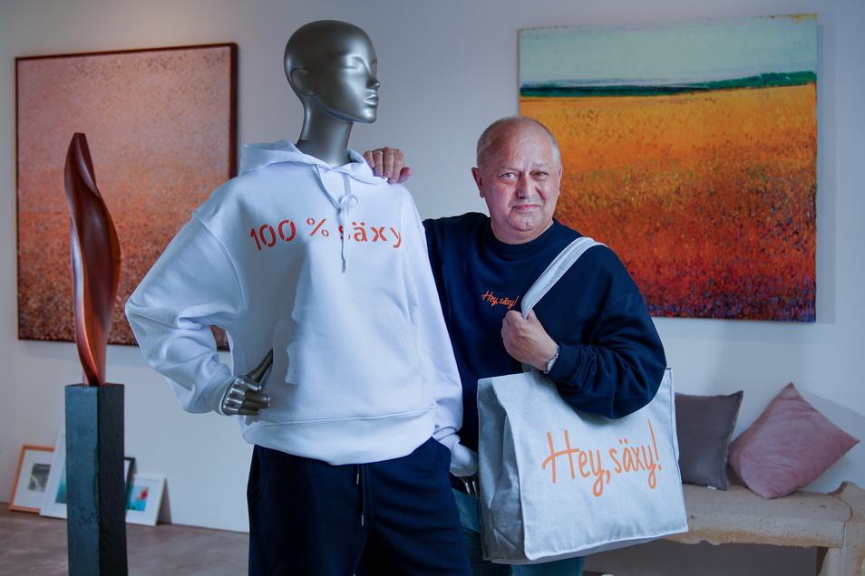 """Ein Produkt der Corona-Krise: Jochen Reichel will den Slogan """"Säxy"""" groß rausbringen."""