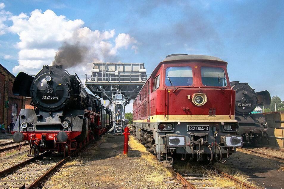 """Schauplatzausstellung """"EisenbahnBoom."""" im Schauplatz Eisenbahn Chemnitz-Hilbersdorf."""