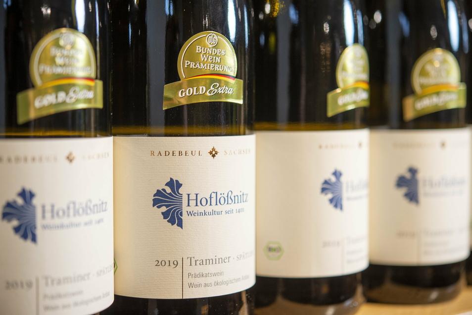 Der prämierte Traminer des Bio-Weingutes.