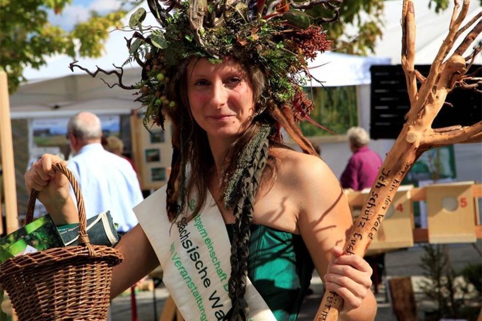Die sächsische Waldkönigin ist auch da..