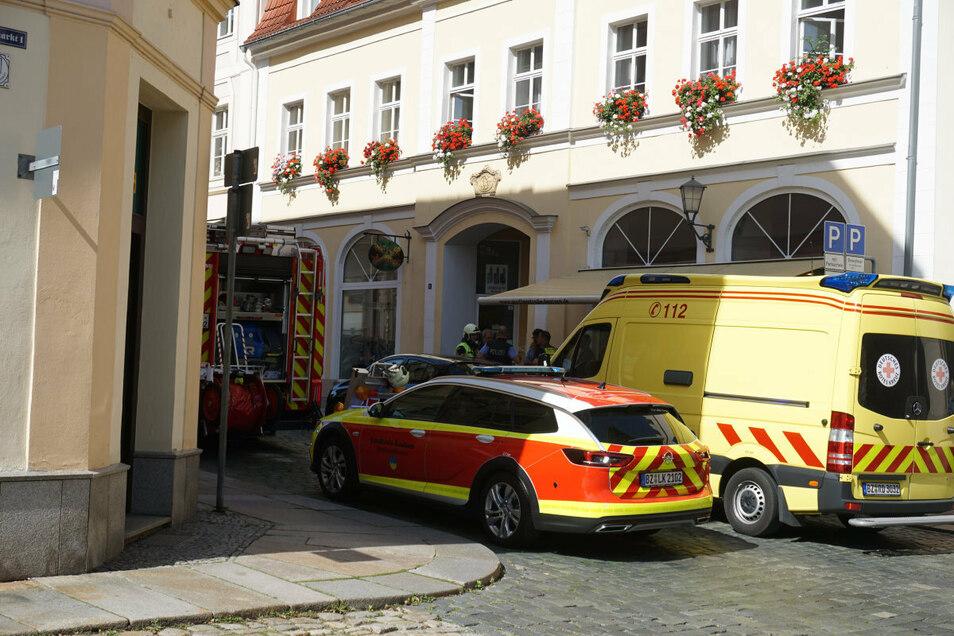 Erneut gab es Dienstagmittag in der Wendischen Straße in Bautzen Chemiealarm.
