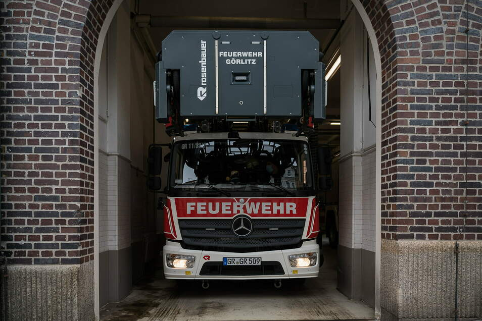 Wenn die Feuerwehr in Görlitz ausrückt, wird es sehr eng.