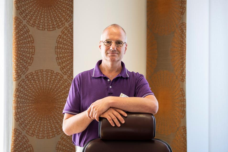 Erik Bodendieck (54) führt die Sächsische Landesärztekammer als Präsident. Er ist Hausarzt, Palliativ- und Suchtmediziner.